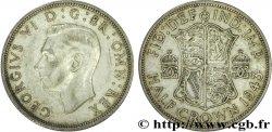 UNITED KINGDOM 1/2 Crown Georges VI 1943  VF