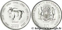 SOMALIE 10 Shillings emblème national / horoscope chinois : années de la chèvre 2000  SPL