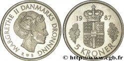 DENMARK 5 Kroner armes / reine Margrethe II 1987 Copenhague MS