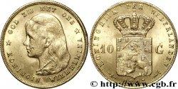 NETHERLANDS 10 Gulden or Reine Wilhelmina 1897 Utrecht AU