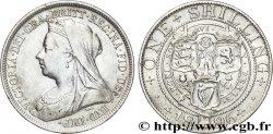 UNITED KINGDOM 1 Shilling Victoria vieille tête 1896  XF