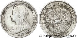 UNITED KINGDOM 1 Shilling Victoriavieille tête 1899  aVF
