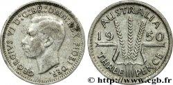 AUSTRALIA 3 Pence Georges VI / épis 1950 Melbourne VF