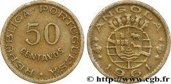 ANGOLA 50 Centavos monnayage colonial Portugais 1961  TTB