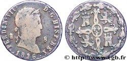 SPAIN 8 Maravedis Ferdinand VII 1826 Ségovie VF