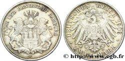 GERMANY - HAMBURG FREE CITY 2 Mark blason de Hambourg / aigle 1906 Hambourg - J XF