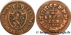 ALLEMAGNE - NASSAU 1/4 Kreuzer Grand-Duché de Nassau 1819  TB