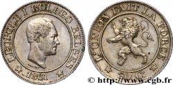 BELGIUM 20 Centimes Léopold Ier 1861  AU