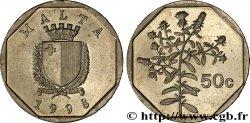 MALTA 50 Cents emblème / tulliera 1998  MS
