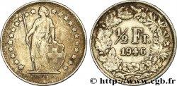 SWITZERLAND 1/2 Franc Helvetia 1946 Berne AU