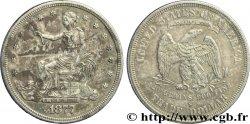 "STATI UNITI DAMERICA 1 Dollar type ""trade Dollar"" aigle et liberté assise 1877 San Francisco - S q.SPL"