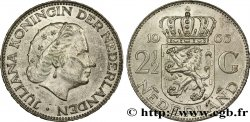 NETHERLANDS 2 1/2 Gulden Juliana 1966 Utrecht AU