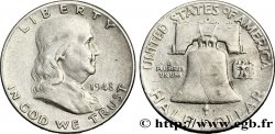 UNITED STATES OF AMERICA 1/2 Dollar Benjamin Franklin 1948 Denver