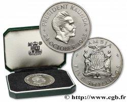 ZAMBIE 5 Shillings Président Kaunda / emblème 1965  SPL