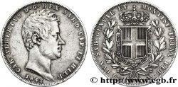 ITALIE - ROYAUME DE SARDAIGNE 5 Lire Charles Albert, roi de Sardaigne 1842 Gênes TTB