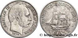 ANTILLES DANOISES (ÎLES VIERGES) 5 Cents Christian IX 1878  TTB