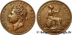UNITED KINGDOM 1/2 Penny Georges IV / Britannia 1826  VF