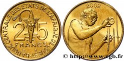 WEST AFRICAN STATES (BCEAO) 25 Francs BCEAO masque / chimiste 2002 Paris