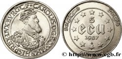 BELGIUM 5 Ecu BE Charles Quint 1987  MS