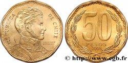 """CHILE 50 Pesos Bernardo O'Higgins erreur frappe """"CHIIE"""" 2008 Santiago - S° MS"""