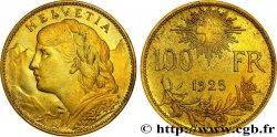 SUISSE - CONFEDERATION Essai de 100 Francs Vreneli 1925 Berne FDC