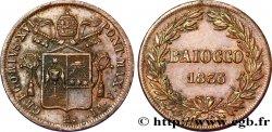 VATICAN AND PAPAL STATES 1 Baiocco au nom de Grégoire XVI an VI 1836 Rome XF