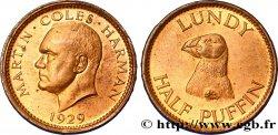 UNITED KINGDOM 1/2 (Half) Puffin - Île de Lundy 1929  MS