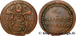VATICAN AND PAPAL STATES 1 Baiocco ville de Gubbio au nom de Pie VI an XV 1789 Rome