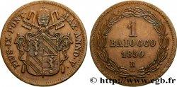 VATICAN AND PAPAL STATES 1 Baiocco armes du vatican frappé au nom de Pie IX an V 1850 Rome XF