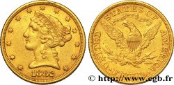 ÉTATS-UNIS DAMÉRIQUE 5 Dollars or Liberty 1882 Philadelphie