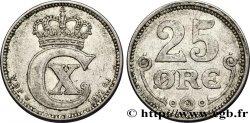 DANEMARK 25 Ore monogramme de Christian X roi du Danemark 1917 Copenhague TTB