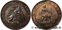"ESPAGNE 5 Centimos ""ESPAÑA"" assise 1870 Oeschger Mesdach & CO TTB+"