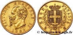 ITALY 20 Lire Victor Emmanuel II 1862 Turin XF