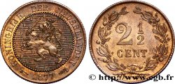 NETHERLANDS 2 1/2 Cents lion couronné 1877 Utrecht MS