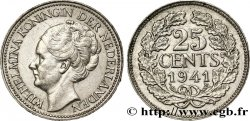 NETHERLANDS 25 Cents Wilhelmine 1941 Utrecht