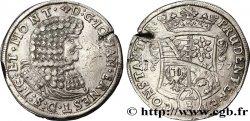 GERMANY - SAXONY 2/3 Thaler au nom de Jean-Ernest 1677  XF/VF