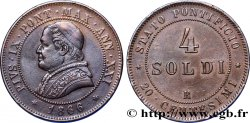 VATICAN AND PAPAL STATES 4 Soldi Pie IX an XXI 1866 Rome