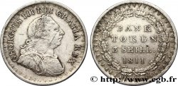 UNITED KINGDOM 3 Shillings Georges III Bank token 1811  XF