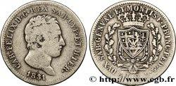 ITALY - KINGDOM OF SARDINIA 2 Lire Charles-Félix 1831 Gênes VF