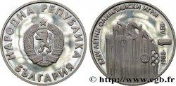 BULGARIA 1 Lev Jeux Olympiques d'été 1988 : emblème / sprinters 1988 Sofia MS