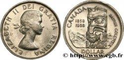 CANADA 1 Dollar Elisabeth II / Colombie Britannique 1958  AU