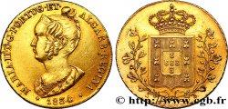 PORTUGAL -MARIE II Peça ou pièce de 6400 Reis 1834 Lisbonne
