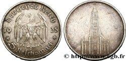 ALLEMAGNE 5 Reichsmark église de la garnison de Potsdam 1935 Karlsruhe - G TTB