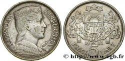 LATVIA 5 Lati 1931  AU
