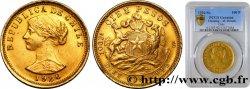 CHILI - RÉPUBLIQUE 100 Pesos or ou 10 Condores en or, 1er type 1926 Santiago PCGS