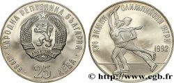 BULGARIA 25 Leva Proof XVIe Jeux Olympiques Albertville - patinage artistique 1989  MS