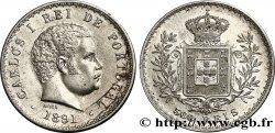 PORTUGAL 500 Reis Charles Ier 1891  TTB+