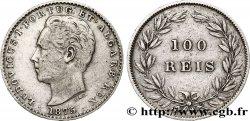 PORTUGAL 100 Réis Louis Ier 1875  XF