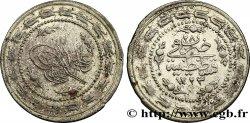 TURKEY 6 Kurush frappe au nom de Mahmud II AH1223 an 28 1834 Constantinople VF