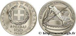 GRÈCE 100 Drachmes Proof Jeux Pan-Européens / saut en hauteur 1982  FDC